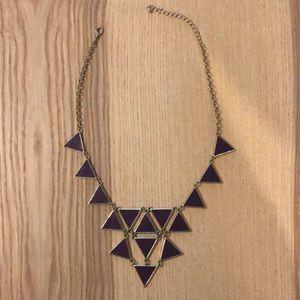 Jewelry - Purple, geometric necklace